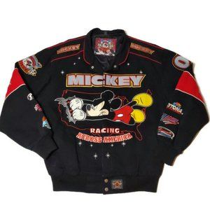 Mickey Mouse Motorsport Bomber Jacket Size Medium